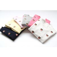 韩版童装 男女童 满绣猴子纯棉针织衫 半高领打底衫 F0718-12Z1