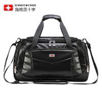 正品瑞士军刀超大容量手提包男女商务出差行李包潮酷防水旅行包