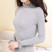 2014冬季新款 韩版中长款高领加厚毛衣女式针织打底衫