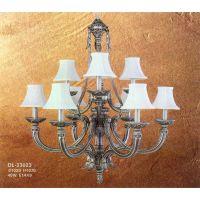 中元之光设计定制精品欧式吊灯精致全铜灯双层多头吊灯卧室客厅吊灯
