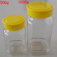 天洪益华定做玻璃八角蜂蜜瓶,批发八角蜂蜜瓶,玻璃瓶厂家