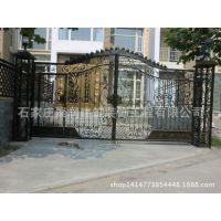 专业生产别墅铁艺大门 庭院门 小区单元双开门 围墙栏花园门