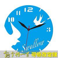 飞燕-钟 创意钟挂钟客厅时钟创意时钟迷你黑创意挂钟订制