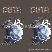 上海烫画厂家供应 刀塔英雄烫画 英雄联盟T恤烫画 DOTA蓝猫图案