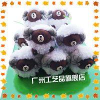 日本line连我小镇毛绒小挂件布朗熊变身绵羊公仔毛绒玩具羊年公仔