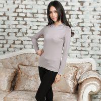 2014秋装新款女士打底衫修身韩版中长款 长袖女式t恤女装厂家批发