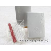 星级酒店一次性用品宾馆护理包棉签银卡纸盒浮雕文字包装定制批发