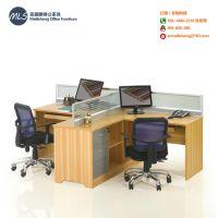 B102:双人位组合屏风台单人卡位办公屏风桌职员电脑台转角办公台
