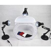 批发新款便携LED小型淘宝摄影棚3灯套装摄影灯箱折叠灯摄影棚套装