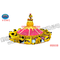 蜜蜂造型的飞天转盘儿童喜爱的户外地面游乐设备