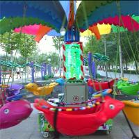 小小秋千鱼带旋转新款游乐玩具广场机器人打靶机厂家直销