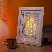 3D立体光影纸雕灯创意礼品台灯床头装饰温馨小夜灯卧室定制