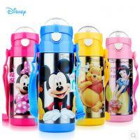 迪士尼儿童水杯保温杯带吸管杯防漏婴儿杯子幼儿水瓶宝宝水杯吸管
