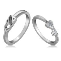 情侣纯银首饰 钻石首饰 仿真珠宝流行情侣首饰批发