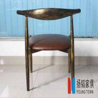 扬韬促销美式复古咖啡厅桌椅,休闲奶茶甜品店椅子,铁艺茶餐厅餐桌椅组合