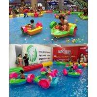 水上娱乐玩具就选手摇船 两个孩子一起玩的塑料划船价位 手摇船哪能买到