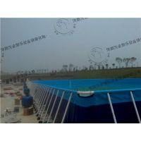 优雅的支架游泳池|河南沃金(图)|移动支架游泳池