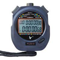 天福秒表PC2810双排10道秒表 跑步计时器 大屏幕电子秒表 跑表