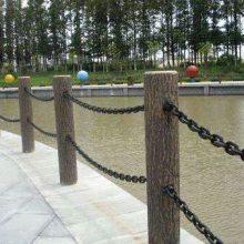 仿木护栏 别墅围栏 水泥仿木栏杆