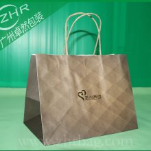 定做香港手信包装袋蛋糕点西饼点心牛皮纸烘焙手提礼品购物袋