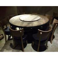 美式乡村风格桌椅 铁木结合loft复古桌椅 行一特制