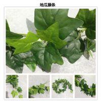 外贸批发 仿真植物壁挂地瓜叶 绿叶植物藤条壁挂植物墙吊顶配件