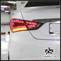 现代索纳塔八代改装 专用LED尾灯总成 韩国进口汽车用品 新款上市
