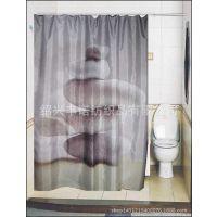 特价现货亚马逊ebay速卖通热卖涤纶石头印花浴帘 外贸纺织浴帘