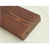 热卖碳化木扣板 表面炭化木地板加工 深度碳化木 上海价格批发