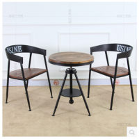 美式复古餐茶桌椅组合铁艺沙发椅子休闲咖啡店电脑椅户外阳台椅子