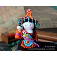 精品云南少数民族娃娃 中国传统木偶摆件 木质布娃娃厂家批发