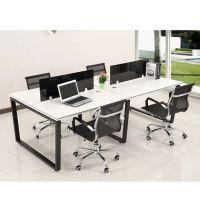 希科时尚办公桌椅2/4人位组合办公家具职员桌屏风工位L型员工电脑桌
