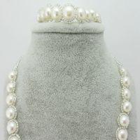 供应珍珠首饰套链 淡水珍珠 项链手链套装 外贸款 饰品批发