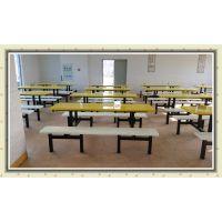 厂家生产江门餐桌椅各种款式 8人位连体餐桌椅送货安装