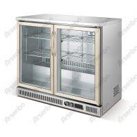 佛山雅绅宝商用冷柜 BT92两门吧台冷藏展示柜 酒吧不锈钢柜