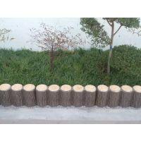 郑州天艺景观园林工程公司直销商丘地区50cm仿木树桩石水泥产品