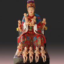河南云峰佛像雕塑厂订做 玻璃钢树脂彩绘神像 三霄娘娘佛像