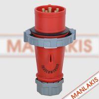 上曼电气 TYP:328 5芯32A 工业插头|防水插头|相位转化插头