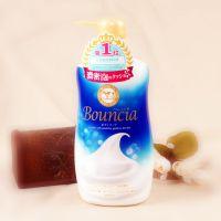 日本COW 牛乳石碱bouncia浓密泡沫保湿沐浴露550ml优雅花香正品