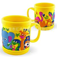 工厂订制儿童马克杯 PVC软胶马克杯 卡通环保马克杯出口品质