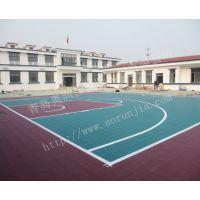 牡丹江拼装篮球场地板-学校篮球场建设