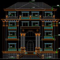 [新农村]三层双拼简欧风格别墅建筑施工图(知名设计院)16.4x16.7米