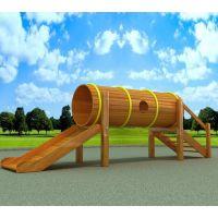 【厂家直销】户外游乐设施木制组合滑梯 木制儿童滑梯 木制滑梯