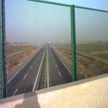 高速公路框架护栏网 高铁绿网栅栏 桥梁防护网