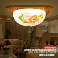 陶瓷灯具薄胎陶瓷吸顶新中式木艺陶瓷灯过卧室道客厅阳台吸顶灯饰
