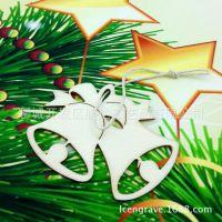 圣诞木质铃铛挂件 节日礼品 场会装饰用品
