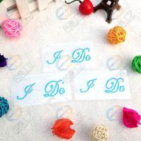 速卖通热销婚庆IDO鞋贴 字母钻贴 婚鞋贴钻 可提供图样定制