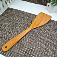 正品韩国厨具 木制上漆餐厨具 烹饪铲勺 厨房工具32cm金黄色铲子