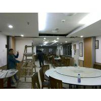 西宁市包安装餐厅包厢移动屏风隔断吊趟门厂家