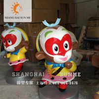 上海升美高端模型制作厂家 西游记卡通孙悟空模型玻璃钢雕塑 美陈展览摆件